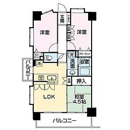 グランシティ川崎[2階]の間取り