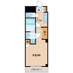 仙台市地下鉄東西線 連坊駅 徒歩3分の賃貸マンション 1階1Kの間取り