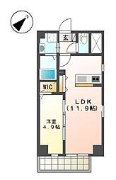 up side M 大曽根[6階]の間取り