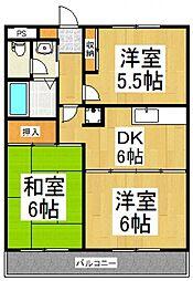セプドール田村II[3階]の間取り