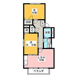 サンシャイン B[2階]の間取り