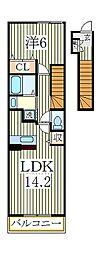 セントラーレ パルク弐番館[2階]の間取り