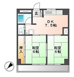 ラッフル徳川[5階]の間取り