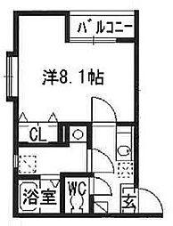 リブレア箱崎駅前B[101号室]の間取り