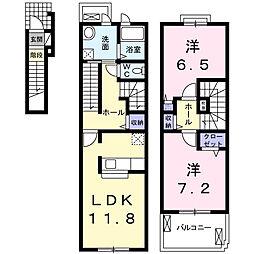 エボルシオン東光B[2階]の間取り