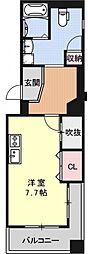 ラナップスクエア京都鴨川[310号室号室]の間取り