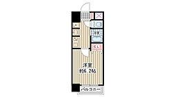 エステムコート新大阪VIエキスプレイス 2階1Kの間取り
