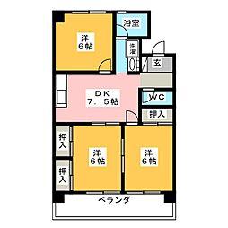 神領マンション[1階]の間取り
