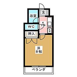 フレグランス22[1階]の間取り