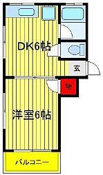 第五関口ビル[303号室]の間取り