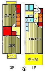 [テラスハウス] 千葉県柏市豊上町 の賃貸【/】の間取り