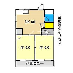 澤田マンション[1階]の間取り
