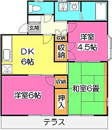 ハウス平塚 II[2階]の間取り
