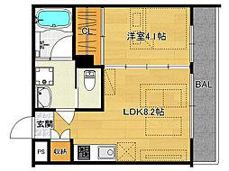 仮)伏見桃山デザイナーズマンション[303号室]の間取り
