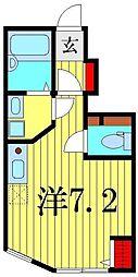アーベインテラス高砂II[1階]の間取り