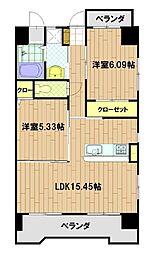 ブルースクエアー響II[8階]の間取り