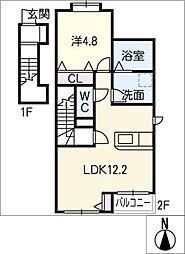 仮)K.K様賃貸アパート II[2階]の間取り