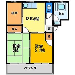 第一マンション[1階]の間取り