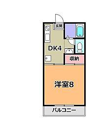 コラムヴァイン21[2階]の間取り