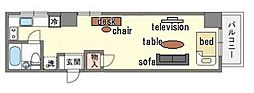 家具・家電付きマルシンビル E[4階]の間取り