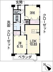 エーレ[3階]の間取り