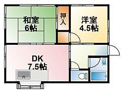 [一戸建] 千葉県大網白里市富田 の賃貸【/】の間取り