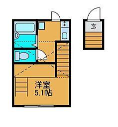 (仮)中町新築デザイナーズアパート[2階]の間取り