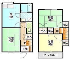 [テラスハウス] 神奈川県小田原市清水新田 の賃貸【/】の間取り