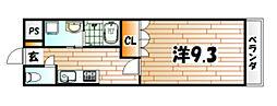 コンフォルト城野駅前[2階]の間取り
