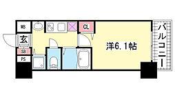 兵庫県神戸市中央区国香通2丁目の賃貸マンションの間取り