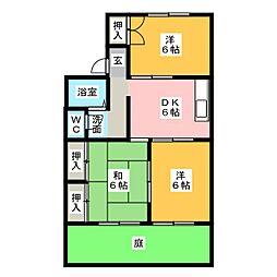 セジュール武藤[1階]の間取り