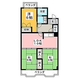 クレア泉崎(コーポ阿部)[2階]の間取り