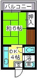大賀レジデンス[202号室]の間取り