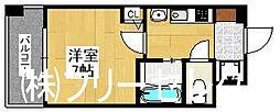 エステムコート博多駅前2セグティス[3階]の間取り