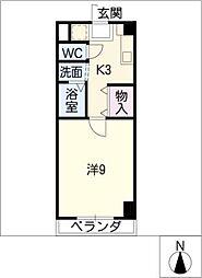 アヴェニューコート栗真B棟[6階]の間取り