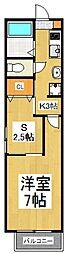 メゾンドELLEV[2階]の間取り