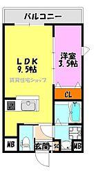 仮)巽東1丁目マンション[2階]の間取り