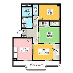ソフィアII[2階]の間取り