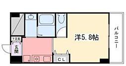 飾磨中村コーポ[5階]の間取り