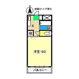 サンシティ2[2階]の間取り
