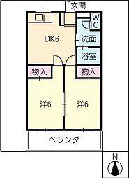 パークサイド中原A棟[1階]の間取り