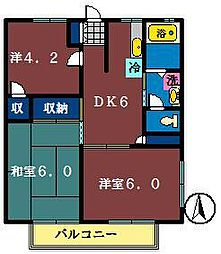 セイゴハイツ A棟・B棟[2階]の間取り