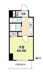 SERENA大阪天満宮 5階1Kの間取り