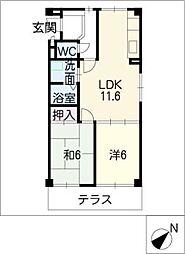 ピアノ第1ビル[1階]の間取り