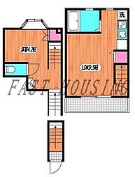 京王線 初台駅 徒歩5分の賃貸マンション 1階1LDKの間取り