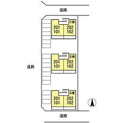 サンハイツ岩田 A棟[101号室]の外観