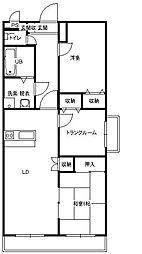 フレア2[4階]の間取り