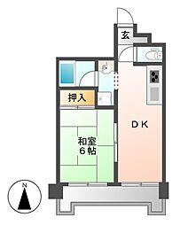 ヤマダ殖産ビル[4階]の間取り