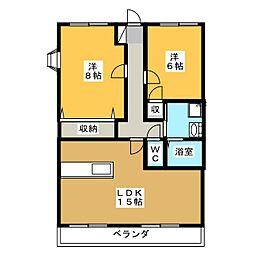 ジュピターIWATA[1階]の間取り