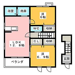 レジデンスHASEGAWA[2階]の間取り